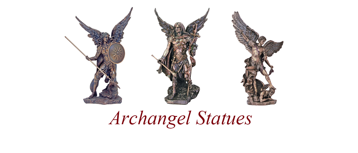3 Archangel Statues - Home Page Slider