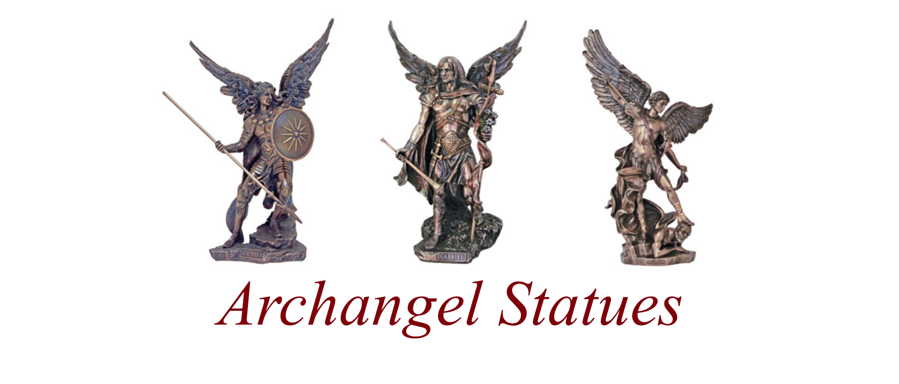 Archangel Statues Banner (Red)